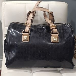 Michael Michael Kors black patent leather handbag